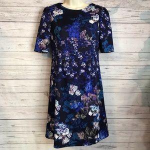 Betsey Johnson Dress Size 2 Blue Purple Floral